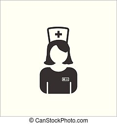 Nurse Icon - Vector Medical Assistant. - Nurse Icon - Vector...