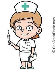 Nurse - Vector illustration of Female Nurse