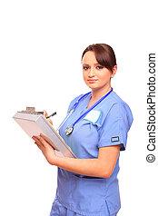Nurse in laboratory