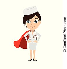 Nurse - In Super Hero Costume