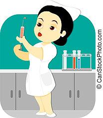 Nurse in the Lab_stock