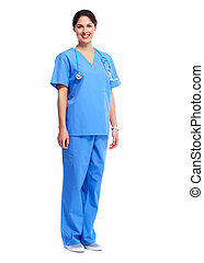 Nurse in uniform with stethoscope