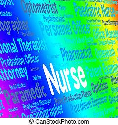 Nurse Job Indicates Recruitment Nursing And Occupations