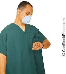 Nurse Looking At Watch