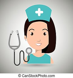 nurse medical stethoscope woman