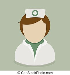 Nurse - minimalistic illustration of a nurse avatar, eps10 ...