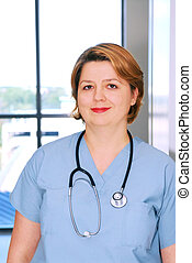 Nurse - Portrait of a medical doctor or nurse in a hospital