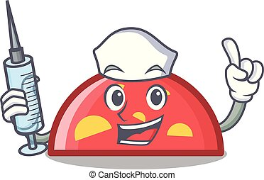 Nurse semicircle character cartoon style