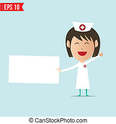 Nurse show blank board