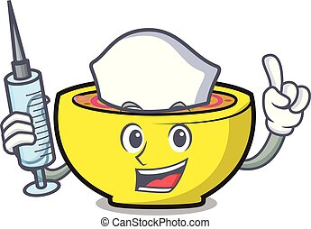 Nurse soup union character cartoon