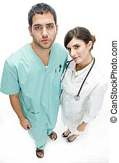 nurse standing with patient