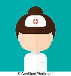 Nurse.  Vector illustration. Background. Trendy flat style.