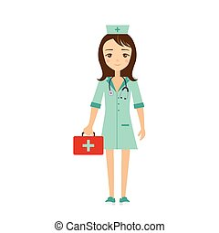 Nurse Vector Illustration.