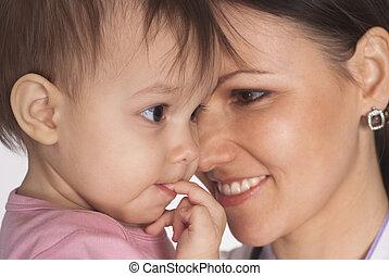 nurse with a baby