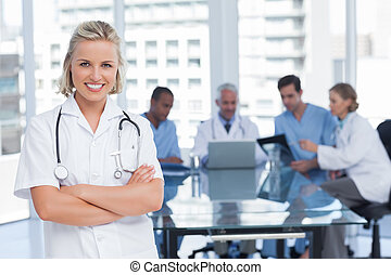Nurse with arms crossed