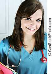 Nurse with Charts