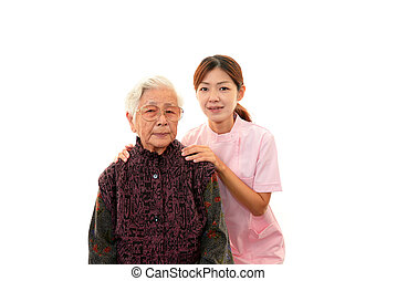 Nurse with old woman