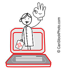 nurse with Online Service