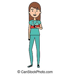 nurse with tube test character