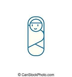 Nurseling linear icon concept. Nurseling line vector sign,...