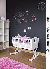 Nursery room with chalkboard wall