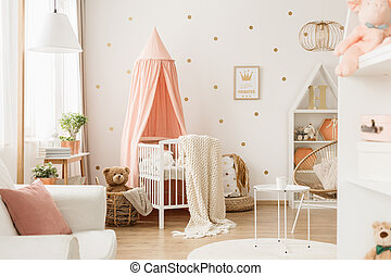 Nursery room with dots