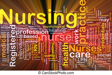 Nursing background concept glowing - Background concept...