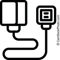 Nursing blood presure monitor icon, outline style - Nursing ...