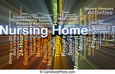 Nursing home background concept glowing