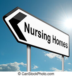 Nursing home concept. - Illustration depicting a road...