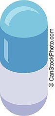 Nursing home pill icon, isometric style
