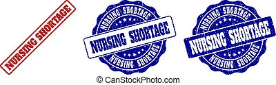 NURSING SHORTAGE Scratched Stamp Seals