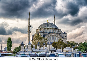 Nuruosmaniye Mosque in the center of Istanbul, Turkey.