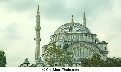 Nuruosmaniye Mosque in the center of old Istanbul, Turkey