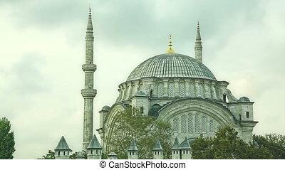 Nuruosmaniye Mosque Istanbul - Nuruosmaniye Mosque in the...