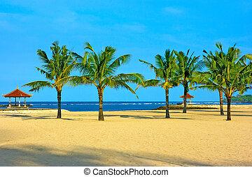 Nusa dua beach on Bali with nobody around