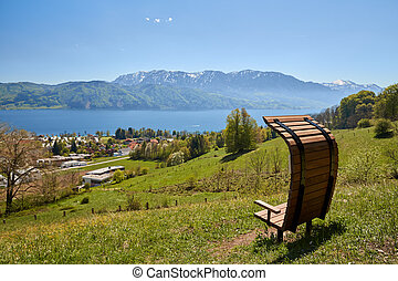Nussdorf at lake Attersee Pfarrer Salettl