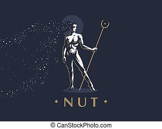 nut., 女神, エジプト人