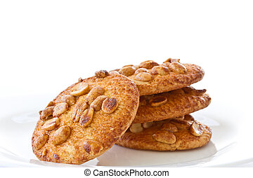 nut cookies with peanuts