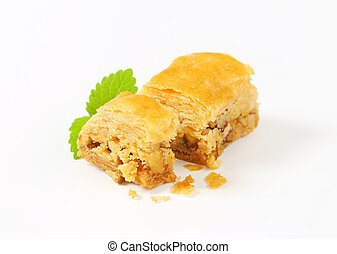Nut filled layered pastry (Baklava)