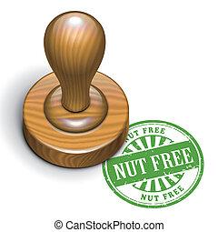 nut free grunge rubber stamp