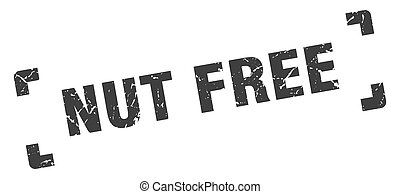 nut free stamp. square grunge sign isolated on white background