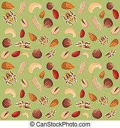 Nut mix seamless pattern