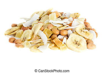 nut mixture - Picture of a bunch of nuts and dried fruits...