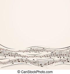 nuta, abstrakcyjny, przypadkowy, muzyka, tło