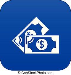 nuta, błękitny, wektor, bank, ikona