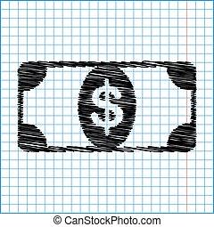 nuta, dolar, bank znaczą