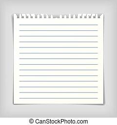 nuta, kwestia, papier, listek