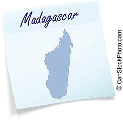 nuta, mapa, Madagaskar, lepki
