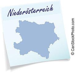 nuta, mapa, niższy,  Austria, lepki